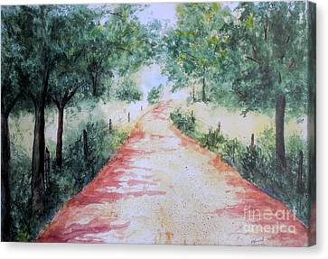 Gravel Road Canvas Print -  A Country Road by Vicki  Housel