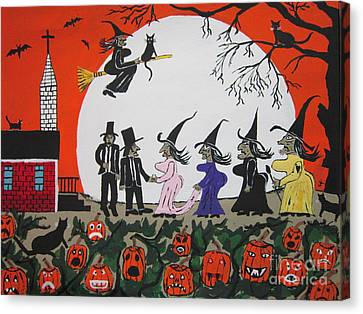 A Halloween Wedding Canvas Print