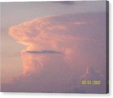 A Natural Face Cloud Canvas Print