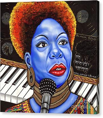 A Part Of Nina Simone Canvas Print by Nannette Harris