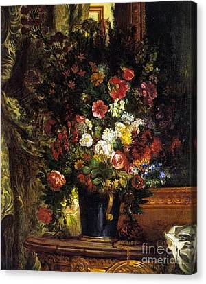 Consoling Canvas Print -  A Vase Of Flowers On A Console by MotionAge Designs