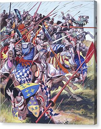 Agincourt The Impossible Victory 25 October 1415 Canvas Print by Ron Embleton