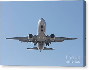 Canvas Print featuring the photograph  Aireuropa - Boeing 737-85p - Ec-jbl  by Amos Dor