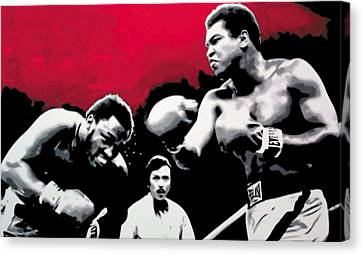 - Ali Vs Fraser - Canvas Print by Luis Ludzska