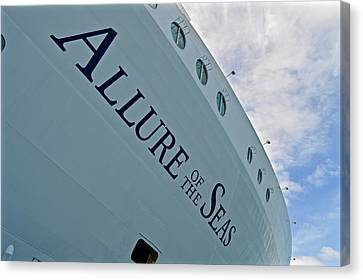 Allure Of The Seas - Hull Canvas Print