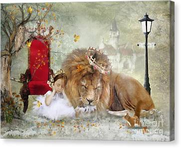 ..... And She Sleeps Canvas Print by Trudi Simmonds