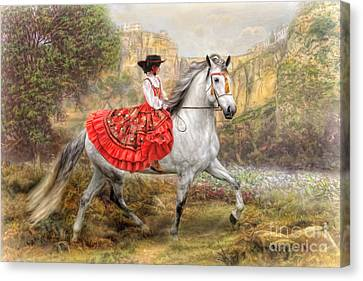 Canvas Print featuring the digital art  Andalusia by Trudi Simmonds