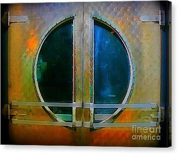 Art Deco Door In Halifax Nova Scotia Canvas Print by John Malone