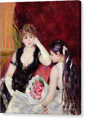 At The Concert Canvas Print by Pierre Auguste Renoir
