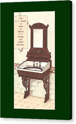 Bathroom Picture Wash Stand Two Canvas Print by Eric Kempson