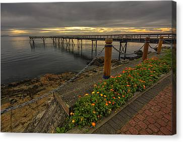 Bevan Fishing Pier - Sydney Bc Canvas Print