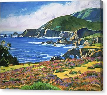 Big Sur Canvas Print -  Big Sur by David Lloyd Glover