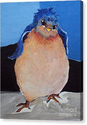 Bird With An Attitude Canvas Print by Diane Ursin