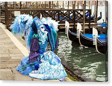 Blue Angel 2015 Carnevale Di Venezia Italia Canvas Print by Sally Rockefeller