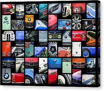 Bmw Vintage Cars Canvas Print -  Bmw Art -01 by Jill Reger