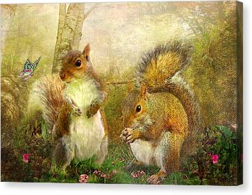 Brambleberry And Dandelion Canvas Print