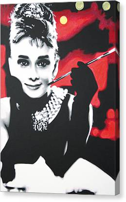 - Breakfast At Tiffannys -  Canvas Print by Luis Ludzska
