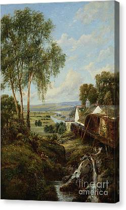 Bucolic Scene Canvas Print by MotionAge Designs
