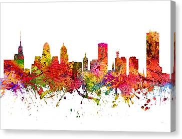 Buffalo Cityscape 08 Canvas Print by Aged Pixel
