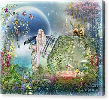 Canvas Print featuring the digital art  Butterfly Fairy by Trudi Simmonds