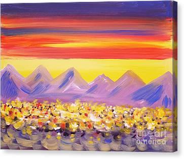 Calgary Christmas Lights  Canvas Print by Anna  Duyunova