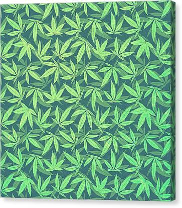 Cannabis   Hemp  420   Marijuana  Pattern Canvas Print by Philipp Rietz