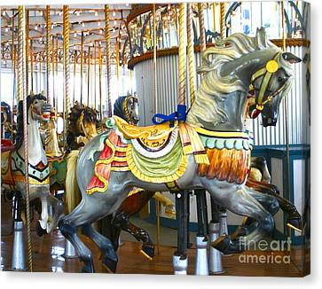 Carousel C Canvas Print by Cindy Lee Longhini