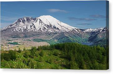Castle Lake And Mt. St. Helens Canvas Print