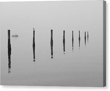 Fog And Reflections Canvas Print by Christina Lihani