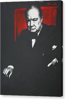 - Churchill - Canvas Print by Luis Ludzska