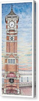 Clock Tower  Morecambe  Lancashire Canvas Print by Sandra Moore