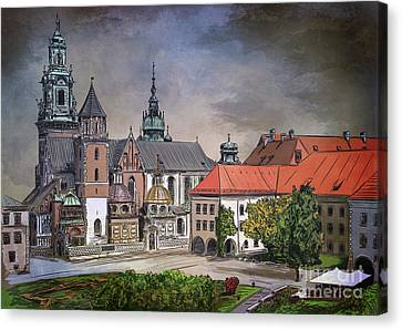 Canvas Print featuring the painting  Cracow.world Youth Day In 2016. by Andrzej Szczerski