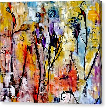 Crazy Messy Fall Yard Art Canvas Print by Lisa Kaiser