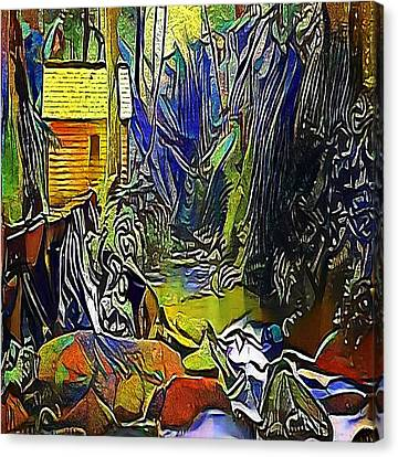 Creek In The Woods - My Www Vikinek-art.com Canvas Print by Viktor Lebeda