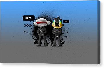 Daft Punk - 210 Canvas Print by Jovemini ART