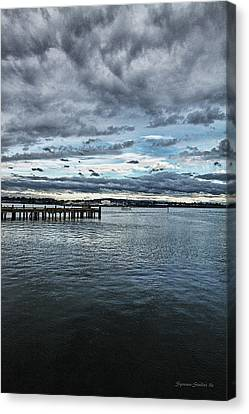 Dock In The Bay Canvas Print by DMSprouse Art