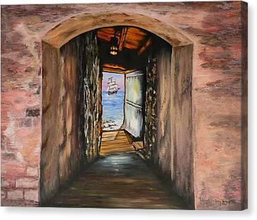 Senegal Canvas Print -  Door Of No Return by Tony Vegas