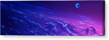 Canvas Print featuring the painting  Earth Light Series Lights Off  by Len Sodenkamp