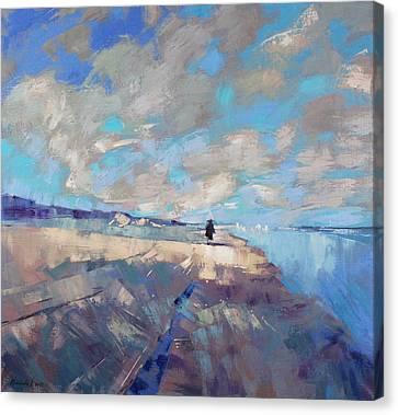Canvas Print featuring the painting  Eternal Wanderers by Anastasija Kraineva