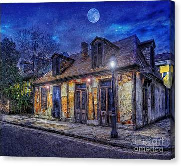 Evening At The Blackmiths Canvas Print by Ian Mitchell