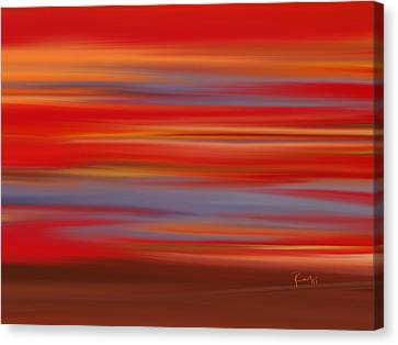 Canvas Print featuring the digital art  Evening In Ottawa Valley by Rabi Khan