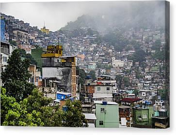 Favela - Rio De Janeiro - South America Canvas Print by Jon Berghoff