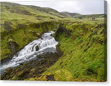 Fimmvorduhals Waterfall Canvas Print