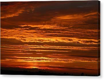 Firery Sky Canvas Print by Dave Clark