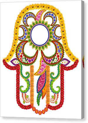 Floral Symbol Of Strength And Happiness Canvas Print