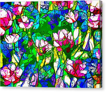 Flowers Field Canvas Print by Alexey Bazhan