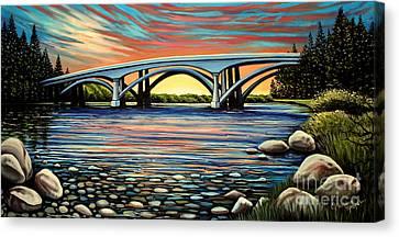 Folsom Bridge Canvas Print