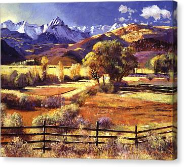 Foothills Canvas Print -  Foothills Ranch by David Lloyd Glover