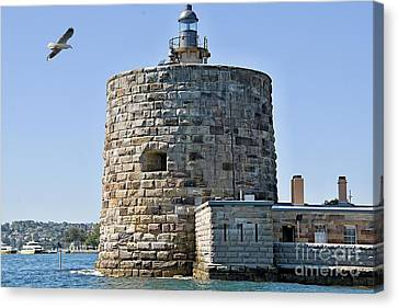 Fort Denison, In Sydney Harbour Also Known As Pinchgut Island. Canvas Print by Geoff Childs