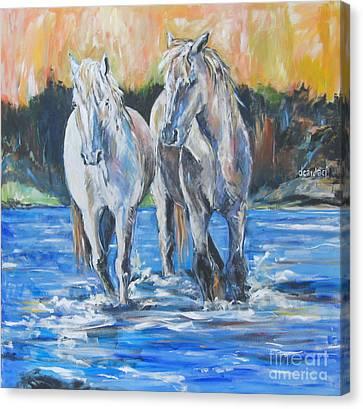 Fresh Water Canvas Print by Debora Cardaci